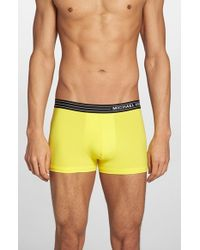 Michael Kors Yellow Microfiber Trunks for men