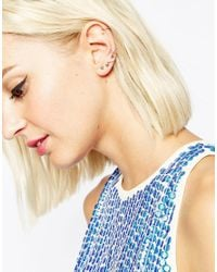 ASOS | Multicolor Limited Edition Stone Set Triangle Ear Cuff & Stud Pack | Lyst