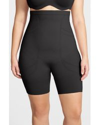 Spanx | Black 'slim Cognito' High Waist Mid Thigh Shaper | Lyst
