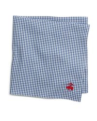 Brooks Brothers | Blue Micro Gingham Pocket Square for Men | Lyst