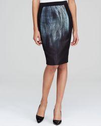 Elie Tahari Black Kim Jacquard Pencil Skirt