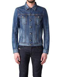 DIESEL Blue Elshar Denim Jacket for men