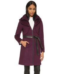 SOIA & KYO | Purple Arya Coat - Merlot | Lyst