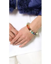 Eddie Borgo - Multicolor Small Cube Bracelet - Lyst