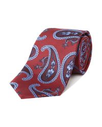Simon Carter - Red Patterned Tie for Men - Lyst