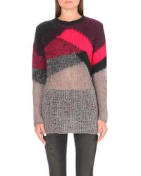DIESEL | Gray M-ronson Loose-knit Jumper - For Women | Lyst