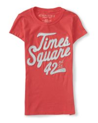 Aéropostale | Pink Times Square Graphic T | Lyst