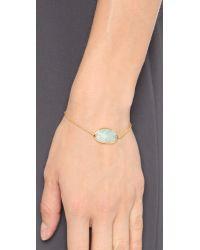 Monica Vinader | Blue Capri 18k Gold Chain Bracelet | Lyst