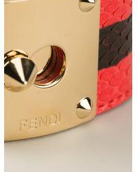 Fendi | Red Goldmine Snakeskin Cuff | Lyst