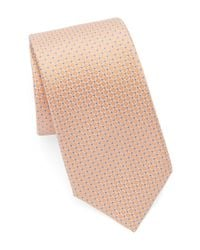 Vince Camuto | Natural Dot Grid Silk Tie for Men | Lyst