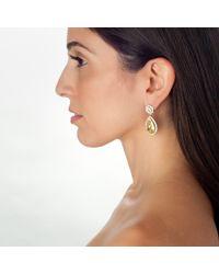 Kenneth Jay Lane | Yellow Double Drop Earring | Lyst