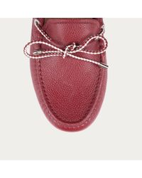 Bally Pink Lien Women ́s Leather Driving Shoe In Red