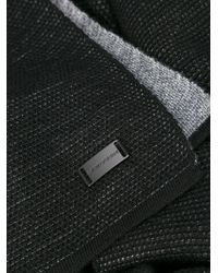 Emporio Armani - Black Tonal Scarf for Men - Lyst