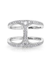 Anne Sisteron | Metallic 14kt White Gold Diamond Gleam Diamond Ring | Lyst