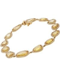 Monique Pean Atelier | Yellow Women's Slice-link Bracelet | Lyst