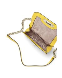 Rebecca Minkoff | Yellow Woven Mini Love Crossbody | Lyst
