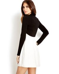 Forever 21 Black Easy Cropped Cardigan