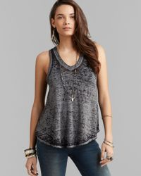 Free People | Gray Breezy Dandelion Tank | Lyst