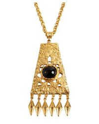 Ben-Amun | Metallic Gold Chain and Long Ornament Necklace | Lyst