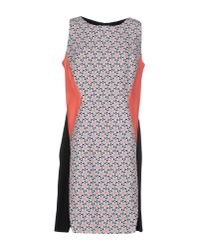 22 Maggio By Maria Grazia Severi - Pink Short Dress - Lyst