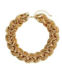 H&M Metallic Braided Necklace