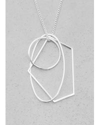 & Other Stories - Metallic Geometric Metal Necklace - Lyst
