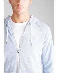 Forever 21 - Blue Slub Knit Hoodie You've Been Added To The Waitlist for Men - Lyst