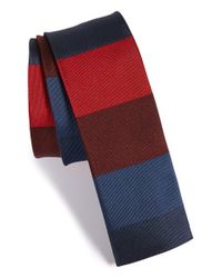 Paul Smith | Blue Stripe Silk Tie for Men | Lyst
