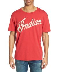 Lucky Brand Red Indian Motorcycles Graphic T-Shirt for men