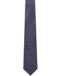 Ferragamo | Blue Cycle Print Silk Tie for Men | Lyst