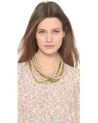 Fallon - Orange Swarovski Pearl Layered Necklace - Lyst
