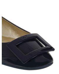 Roger Vivier - Blue 10mm Gommette Patent Leather Ballerinas - Lyst