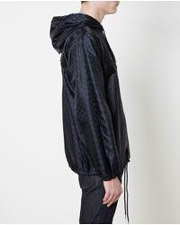 Gucci | Blue Monogrammed Windbreaker for Men | Lyst