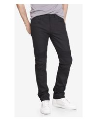 Express Black Slim Fit Rocco Moto Flex Stretch Skinny Leg Jean for men