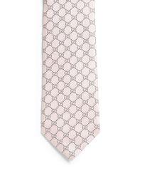 Gucci - Blue Interlocking G Pattern Tie for Men - Lyst