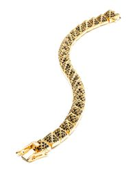 Eddie Borgo | Metallic Small Gold-plated Pave Crystal Pyramid Bracelet | Lyst