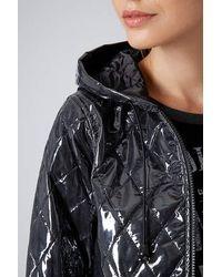 TOPSHOP Black Quilted Plastic Mac