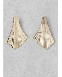 & Other Stories - Metallic Ruffled Earrings - Lyst