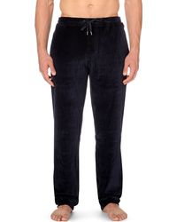 Derek Rose | Black Nico Velour Jogging Bottoms for Men | Lyst