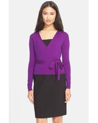 Diane von Furstenberg Purple 'ballerina' Wrap Sweater