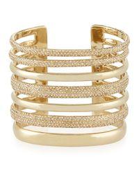 St. John | Metallic Open Crystal Cuff Bracelet | Lyst