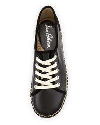 Sam Edelman   Black Lillian Leather Espadrille Sneaker   Lyst
