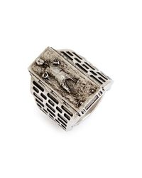 Han Cholo - Metallic 'star Wars - Han Solo In Carbonite' Ring - Lyst