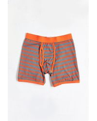Urban Outfitters | Orange Striped Boxer Brief for Men | Lyst
