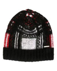 DIESEL - Black Knit Beanie for Men - Lyst