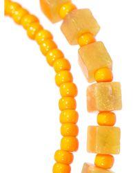 Luis Morais - Orange Gold, Olivine-Jade And Glass Bracelet for Men - Lyst