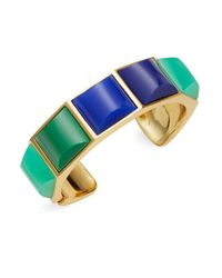 Trina Turk | Goldtone Blue And Green Cuff Bracelet | Lyst