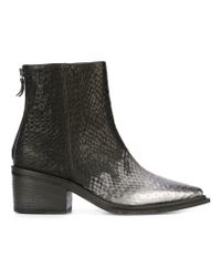 Vic Matié | Black Textured-Leather Ankle Boots | Lyst