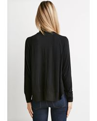Forever 21 | Black Contemporary Oversized Turtleneck Top | Lyst