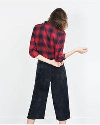 Zara | Black Check Shirt | Lyst